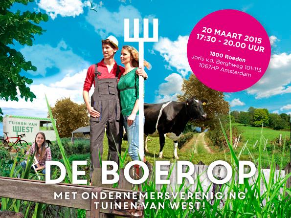 De Tuinen Van West Amsterdam.De 1800 Roeden Ondernemersvereniging Tuinen Van West Gaan De Boer Op